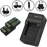 Dot.Foto Pentax D-LI109 - 1050mAh - Batterie (x2) et Chargeur de batterie rapide - comprend l'adaptateur pour automobile et les prises EU et GB, USA [Pour la compatibilité voir la description]