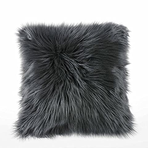 Dreamaker 1 Pack Soft Faux Fur Fleece Cushion Cover Pillowcase