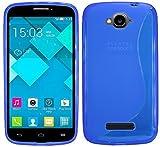 ENERGMiX S-Line TPU SchutzHülle für Alcatel One Touch Pop C7 (7041D) Silikon Hülle in Blau