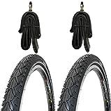 2 x Kenda Reifen Fahrradreifen Pannensicher 28 Zoll 42-622 40C inklusive 2 x Schlauch mit Dunlopventilen