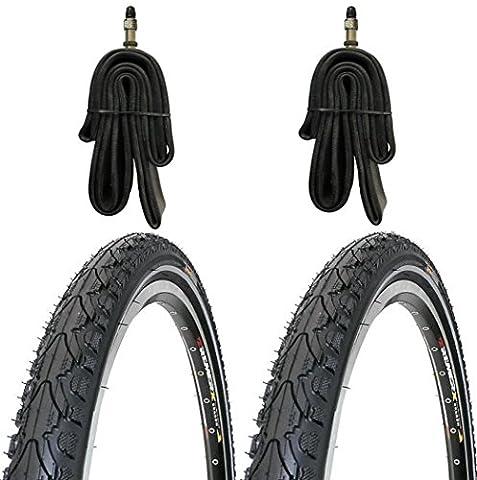 2 x Kenda Reifen Fahrradreifen 28 Zoll 37-622 35C mit Reflexstreifen inklusive 2 x Schlauch mit
