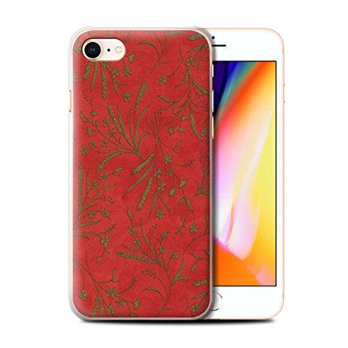 Stuff4 Hülle / Case für Apple iPhone 8 / Pack (8 pcs) / Weizen Blümchenmuster Kollektion Rot/Grün