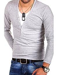 MyTrends - T-shirt 2 en 1 tendance à manches longues - BL-620