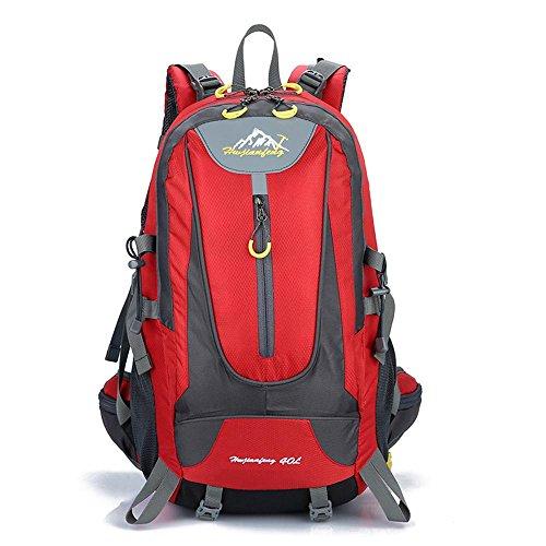 Outdoor-Paket Wild Camp Paket professionelle Bergsteigen Tasche Casual Rucksack Paar Tasche Rot