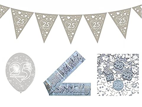 25th Wedding Anniversary Bundle Pack Includes 1 String of Heart