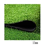 WENZHE Prato Sintetico Tappeti Erba Sintetica Tappeto Verde Erba Artificiale Simulazione Alta Densità Ornamento 15 / 40mm, più Dimensioni (Colore : 15mm, Dimensioni : 1x1m)
