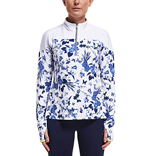 Rohnisch Women's Dorit Half Zip Run Top - SS17 Blue
