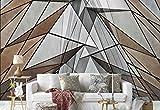 Papier peint mural - Triangle Polygone Formes Abstrait Texture - Thème Textures et effets - XL - 368cm x 254cm (LxH) - 4 Parts - Imprimé sur 130g/m2 papier intissé EasyInstall - 1X-1220498V8