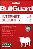BullGuard Internet Security 2019 1J/3 Geräte|Standard/Upgrade/Home/Personal/Professional usw.|3 Gerät|1 Jahr|PC, MAC, Android|Download|Download