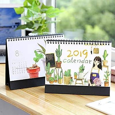 Simple Y Creativo Nuevo Plan De Calendario De Escritorio De Trompeta Nueva 2019 Decoración De Este Calendario por 4290253031