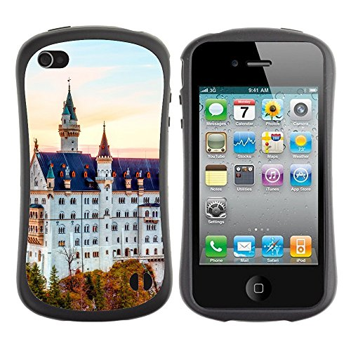 Super Galaxy iFace Slim Fit Seriesdual Layer Rigida Protettiva Custodia Case // V00005034 castello alto bianco in Germania // Apple iPhone 4 4S 4G