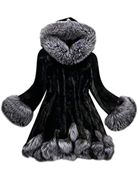 Abrigos Mujer,Culater Mujeres Parka Outwear abrigo de piel de Pelaje (Artificial)