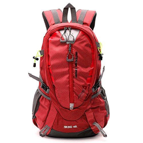 80500ddd25 ... Inovey 40L Outdoor Impermeabile Sport Zaino In Spalla Unisex Trekking  Viaggio Arrampicata Zaino Borsa Pack- ...