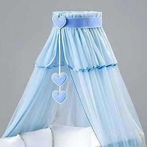 Cielo di bambino con il supporto freccia di lettino. Blu Cuori Blu