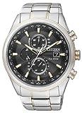 Citizen Herren-Armbanduhr XL Analog Quarz Edelstahl beschichtet AT8017-59E