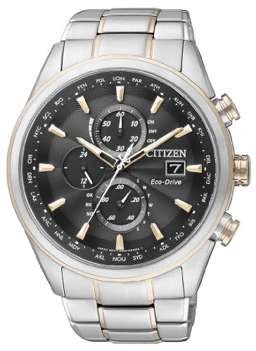Citizen Herren-Armbanduhr XL Analog Quarz Edelstahl beschichtet AT8017-59E