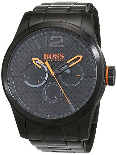 BOSS Orange - 1513239 - Montre Homme - Quartz - Analogique - Bracelet Acier Inoxydable Noir