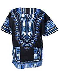 Lofbaz Dashiki Tradicional De Impresión de África Camisa Hippy Unisex