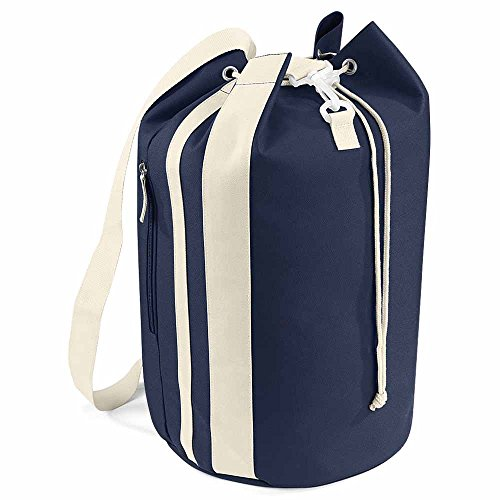 Bag Base - Sac paquetage marin - BG227 - coloris bleu marine et sable