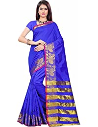 Sarees (for Women Party Wear Offer Sarees New Collection Today Low Price Sarees In Multi-coloured Bhagalpuri Silk...