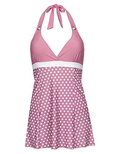 Pussy Deluxe Dotties Triangle Badeanzug Damen Rosa, Größe:XS
