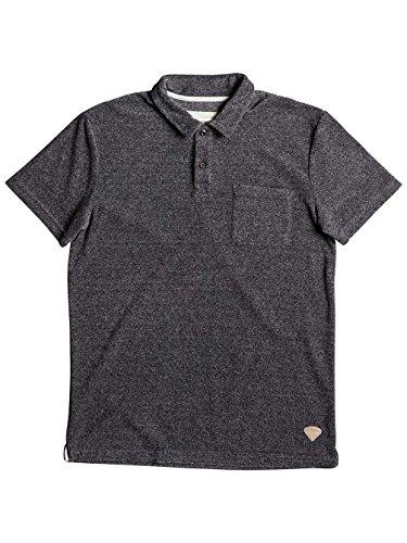 Herren T-Shirt Quiksilver After Surf Polo Dark Grey Heather