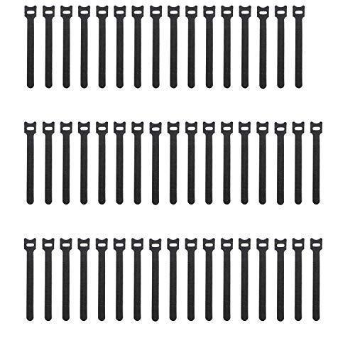 pasow 6wiederverwendbare Haken und Klettverschluss Klett Kabelbinder Gurt Draht Management -