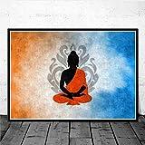 AJBB Posters Bouddha Bouddha, Impressions sur Toile De Wall Art Picture, Peinture, pour La Pièce Home Decor sans Cadre-60 * 84Cm