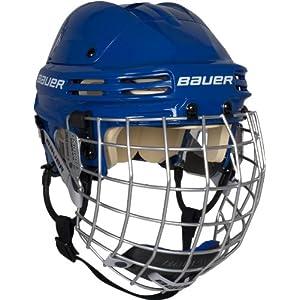 Bauer 4500 Helm Combo (Incl. Gitter), Farbe:Blau;Größen:S = 54cm – 57cm