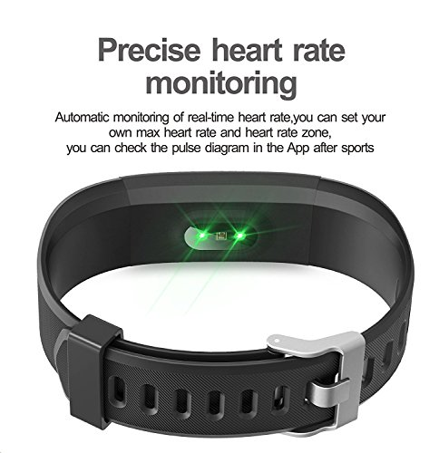 b25ed4caa15 Fitness Tracker Arbily YG3PLUS Heart Rate Monitor Smart Bracelet Activity  Tracker Sport Pedometer with Waterproof Call Message Sleep Monitor Control  ...