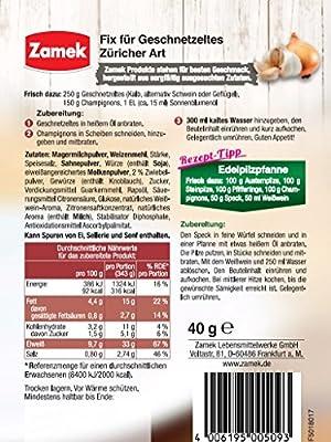 Zamek Fix für Geschnetzeltes Züricher Art 40er Pack, (40x40g) von Zamek Lebensmittelwerke GmbH bei Gewürze Shop