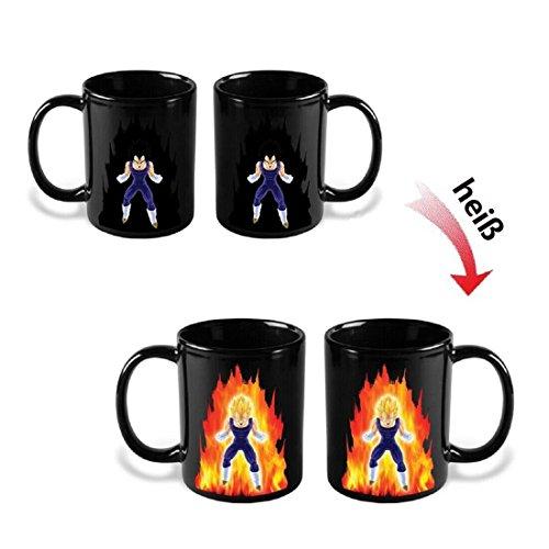 Chinatown verte Zaubertasse, Kaffeetasse mit Farbwechsel bei Temperaturänderung, Motiv: Dragon...