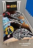 Lego Star Wars Kinder FLANELL / BIBER Bettwäsche Wende Motiv warm & kuschelig 2 tlg. Kissenbezug 80x80 + Bettbezug 135x200 cm 100 % Baumwolle