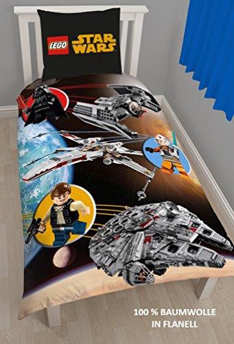 Lego Star Wars Niños cama de franela reversible Diseño cálido y cómodo...