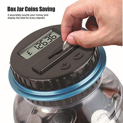 jieGREAT ❤❃ Räumungsverkauf ❤❃,Klare Digitale Piggy Bank Coin spart Gegenüber LCD-Counting Money Jar Change Geschenk (Klar, Coin Bank)