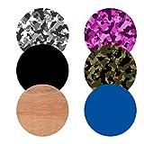 Disagu® Skin Motivset 01 mit 6 Skins passend für PopSockets Fingerhalter Fingerhalterung Geräte-Halter | tarn-schwarz tarn-pink tarn-braun schwarz blau holzmuster
