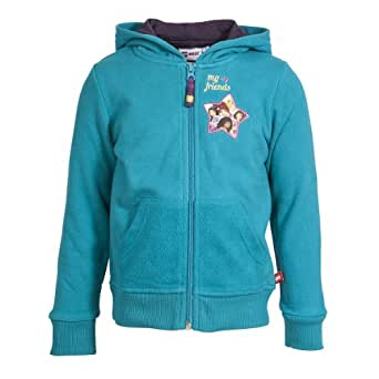 LEGO Wear Tops  capuche  capuche Manches longues Fille - Turquoise - Trkis (758 LIGHT PETROL) - FR : 11 ans (Taille fabricant : 146)