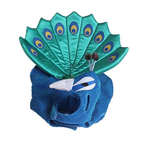 Hunde Pfau Für Kostüm - Fenteer Haustier Kostüm Katze Hund Pfau Cosplay Bekleidung Mantel Bekleidung Blue Outfit