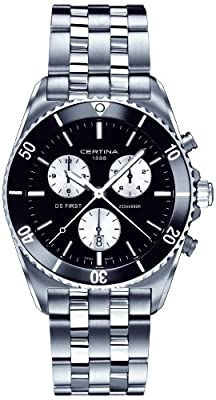 Certina Men's Quartz Watch with Chronograph XL Quartz Stainless Steel C014.417.11.051.01