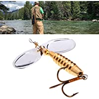 """Cuigu señuelos de pesca de metal spinner Spoon Baits bajo Crankbait Hook Tackle 9cm/3.54""""16.5g"""