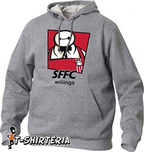 felpa con cappuccio tribute MashUp tra KFC e Big Hero 6, film di animazione tutte le taglie uomo donna maglietta by tshirteria S M L XL XXL maglietta by tshirteria