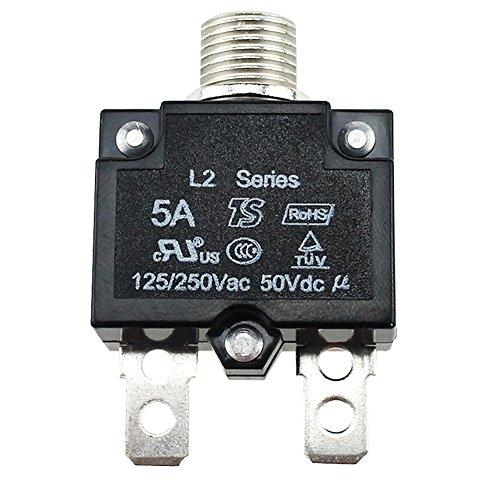 5A/10A/15A/20A/30Amp A-Manuelles Reset Button, wasserdicht, mit Quick Connect Terminals, manuelles Reset DC 50V AC 125-250V Push Button Thermo LS -