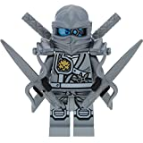 LEGO Ninjago Minifigur Zane Titanium incl. 4 GALAXYARMS Schwertern