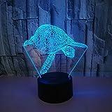 3D Schildkröten Optical Illusions LED Lampen Tolle 7 Farbwechsel Berühren Tabelle Schreibtisch-Nacht Licht Mit USB-Kabel für Kinder Schlafzimmer Geburtstagsgeschenke Geschenk