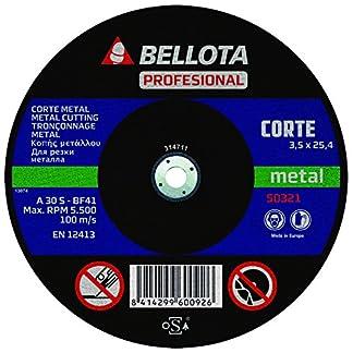 Bellota 50321-350 – DISCO ABR. MAQ.EST.C.METAL 350
