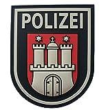 JTG Ärmelabzeichen Polizei Hamburg, fullcolor / 3D Rubber Patch