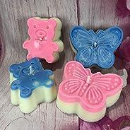 4 candele in cera di soia e oli essenziali a forma di orsetto o farfalla idea regalo bomboniera segnaposto reg