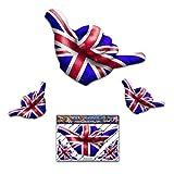 Piccola bandiera inglese Regno Unito HANG LOOSE Adesivo auto Shaka divertente amicizia surf - ST00056_SML - JAS Stickers