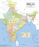 India Wall Map - Synthetic (70 x 83 cm )