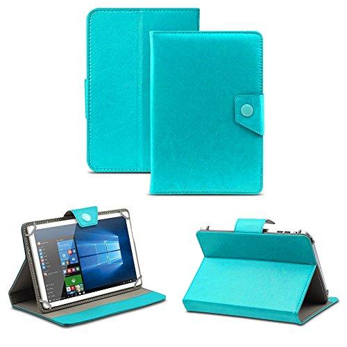 NAUC Universal Tasche Schutz Hülle Tablet Schutzhülle Tab Case Cover Bag Etui 10 Zoll, Farben:Türkis mit Magnetverschluss, Tablet Modell für:Allview Wi10N Pro 10.1